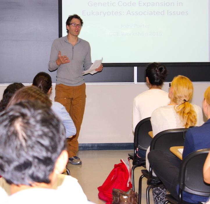 Ryan Mehl speaking to classroom