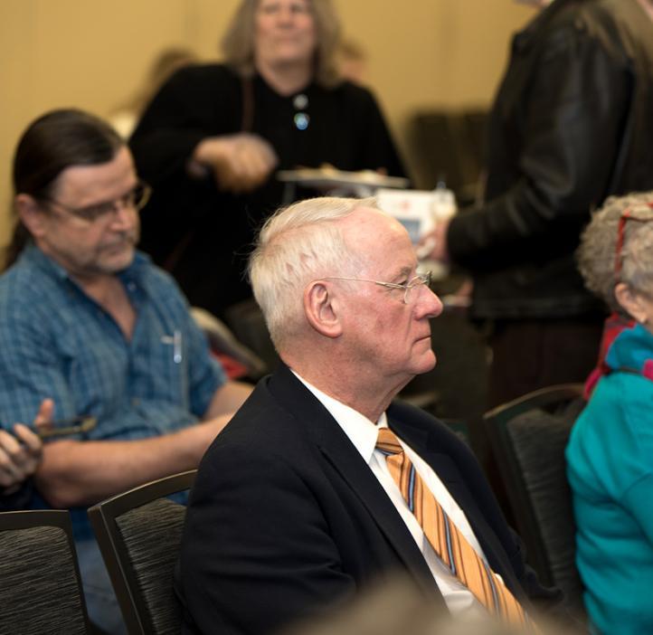 William Kirwan sitting in audience