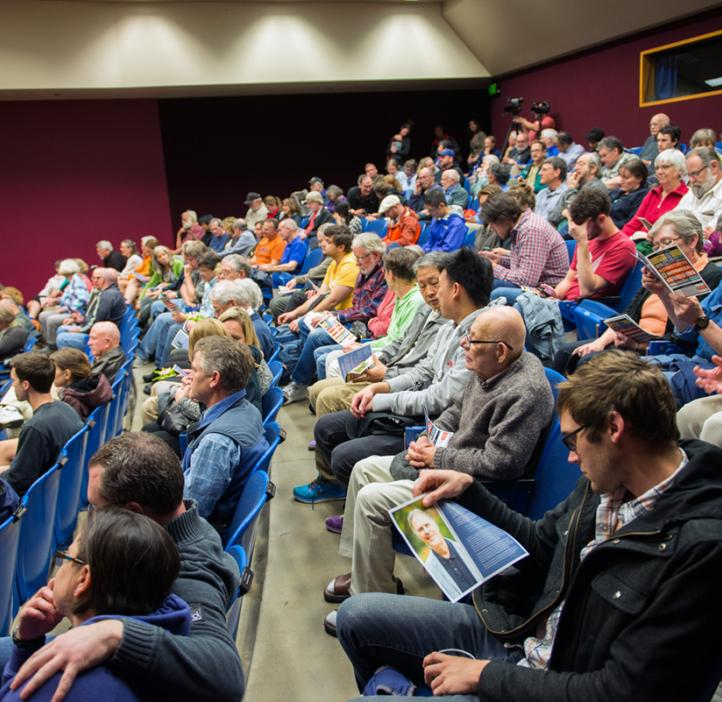 audience watching lecture