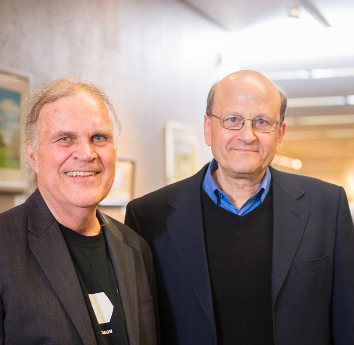 Ed Waymire and Interim Head of Mathematics Enrique Thomann