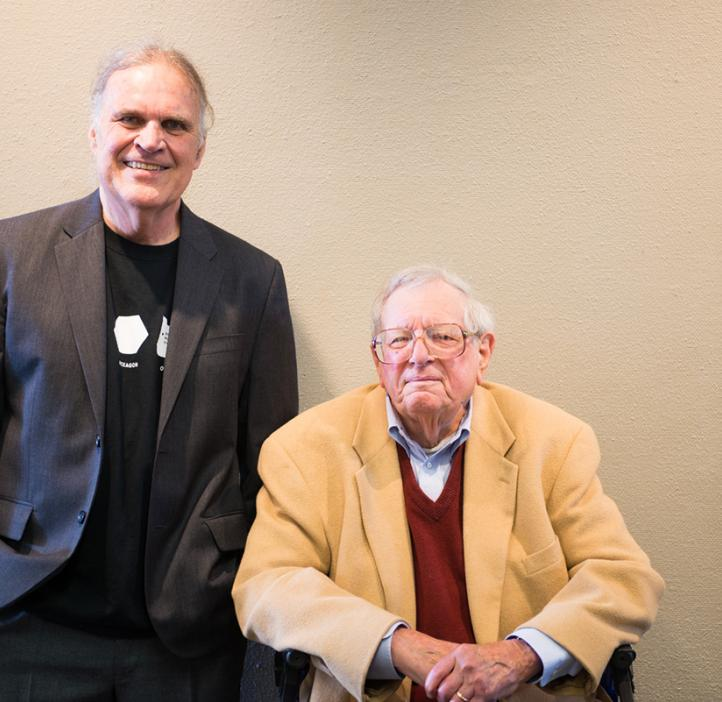 Ed Waymire and former Dean of Science Fred Horne