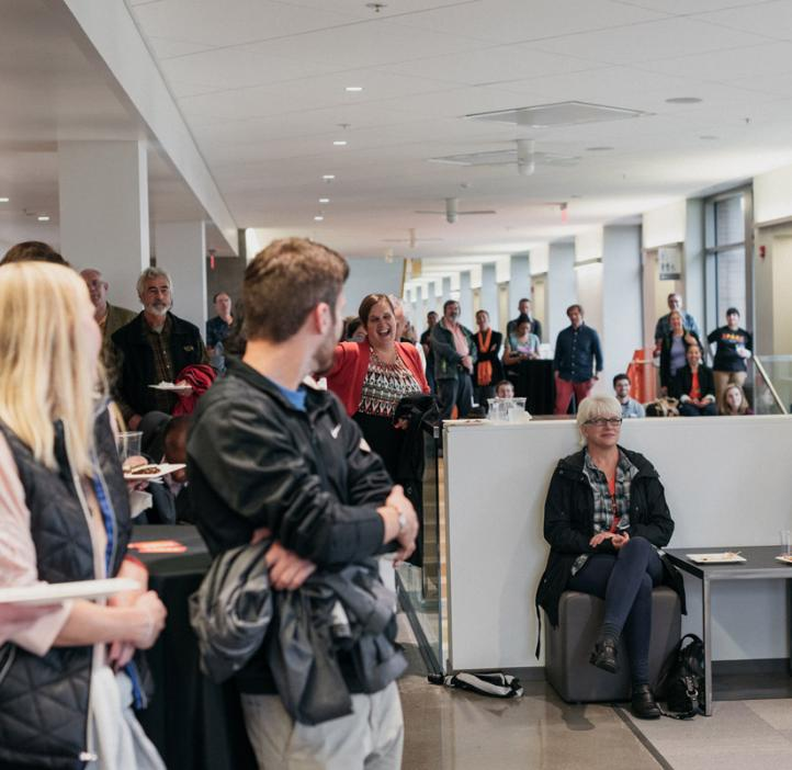 audience in the Learning Innovation Center