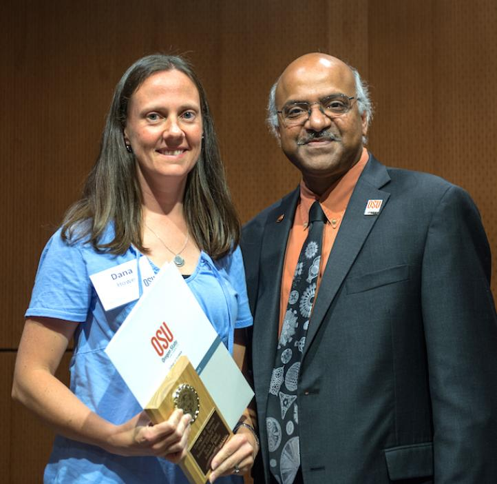 Dana Howe is the 2015 Outstanding Faculty Research Assistant winner