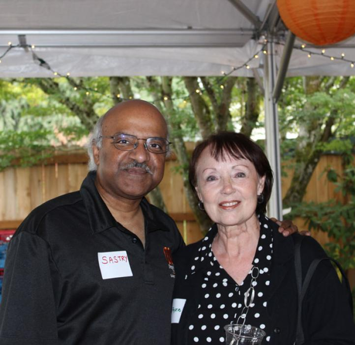 Dean Pantula with Mary Fryer, wife of the late John L. Fryer