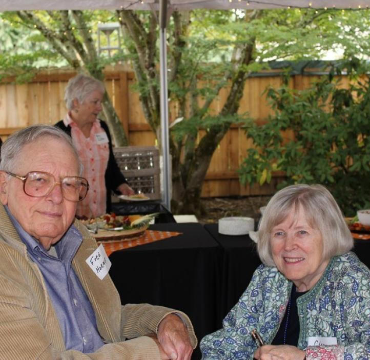 Fred Horne, former dean of the College of Science and his wife, Clara