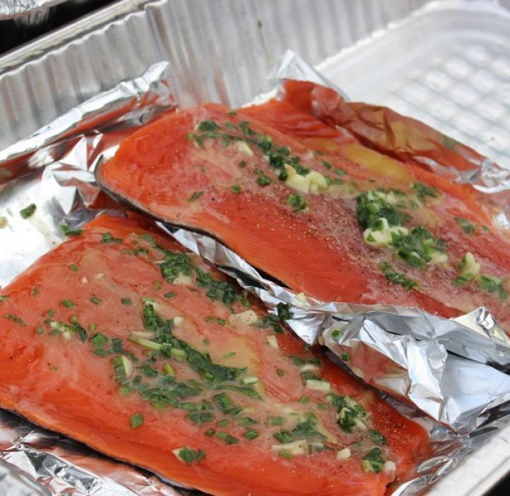 fresh cooked salmon