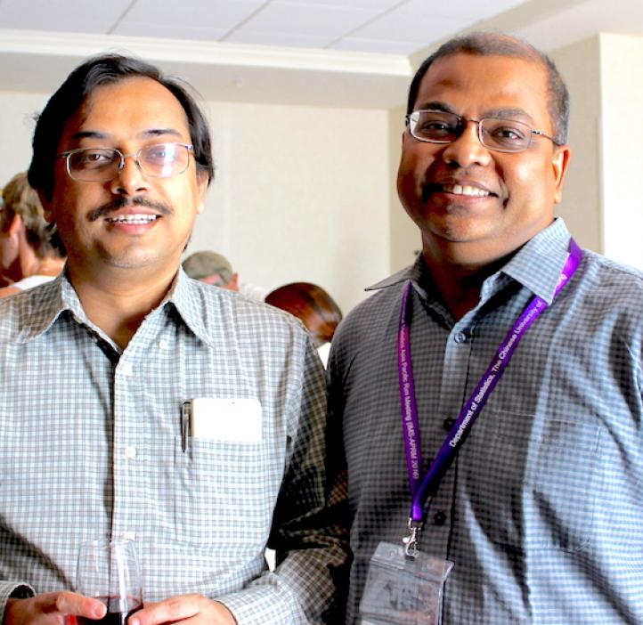 Subrata and guest in lobby