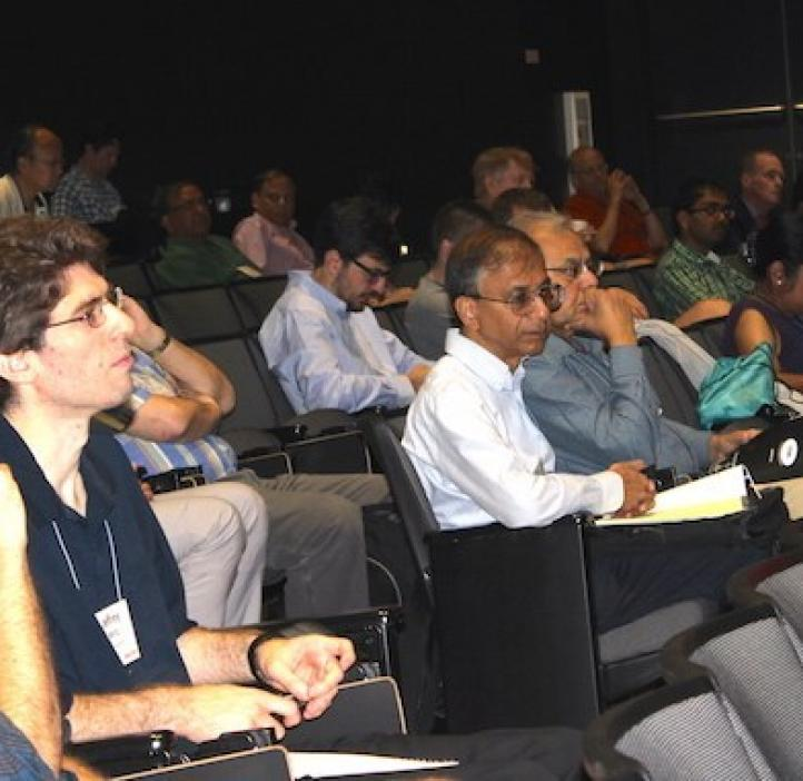 Audience listening to lecture