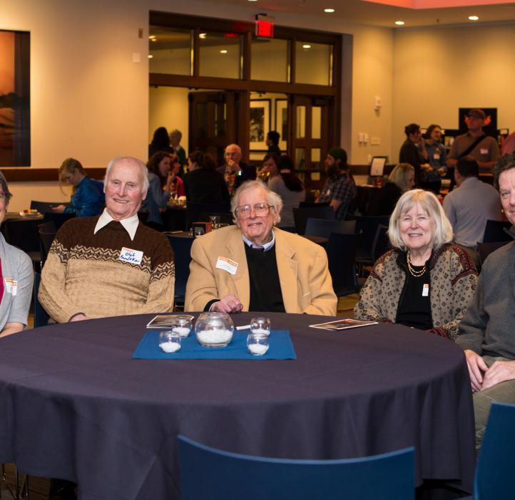 Fred Horne with wife Clara, Fred Horne Award winner Bill Bogley, Instructor Kari Van Zee and former Head Advisor Olaf Boedtker at the 2017 College of Science Awards