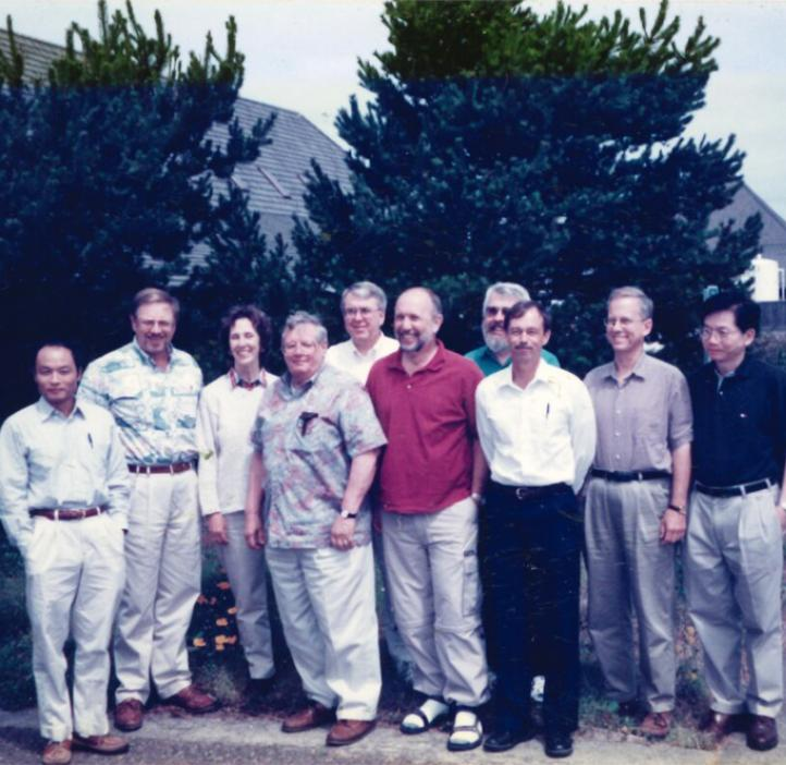 Fred Horne and colleagues in the 80s-90s